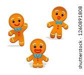 humorous gingerbread vector | Shutterstock .eps vector #1260891808