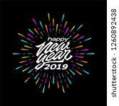 happy new year 2019. retro... | Shutterstock .eps vector #1260892438
