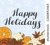 happy holidays. festive... | Shutterstock .eps vector #1260892465