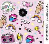 fashionable patch badges with a ... | Shutterstock .eps vector #1260893152