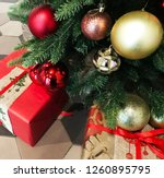 christmas and new year festive... | Shutterstock . vector #1260895795