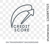 credit score icon. trendy flat... | Shutterstock .eps vector #1260897025