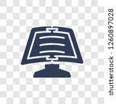 homework icon. trendy homework... | Shutterstock .eps vector #1260897028
