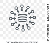 data aggregation icon. trendy... | Shutterstock .eps vector #1260897055