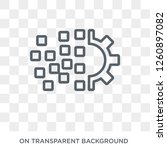 digital transformation icon.... | Shutterstock .eps vector #1260897082