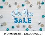 board with post new year sale | Shutterstock . vector #1260899032