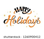happy holidays   lettering...   Shutterstock .eps vector #1260900412