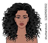 african beauty. animation... | Shutterstock .eps vector #1260900502