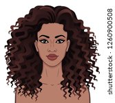 african beauty. animation... | Shutterstock .eps vector #1260900508