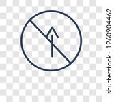 no straight sign icon. trendy... | Shutterstock .eps vector #1260904462