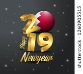 2019 happy new year bahrain... | Shutterstock .eps vector #1260905515