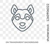 husky dog icon. trendy flat...   Shutterstock .eps vector #1260906022
