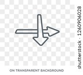 intersection icon. intersection ... | Shutterstock .eps vector #1260906028