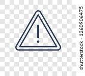 danger sign icon. trendy danger ... | Shutterstock .eps vector #1260906475