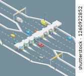 toll road payment concept 3d... | Shutterstock .eps vector #1260922852