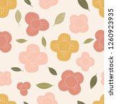 hand dsrawn seamless flower...   Shutterstock . vector #1260923935