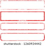 grunge post stamps collection ... | Shutterstock .eps vector #1260924442