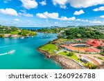 aerial view of port castries... | Shutterstock . vector #1260926788