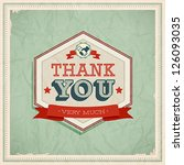 vintage card   thank you.... | Shutterstock .eps vector #126093035