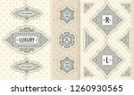 vector set of design elements... | Shutterstock .eps vector #1260930565