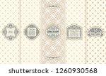 vector set of design elements... | Shutterstock .eps vector #1260930568