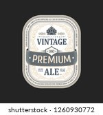 vintage frame logo. vector... | Shutterstock .eps vector #1260930772
