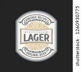 vintage frame logo. vector... | Shutterstock .eps vector #1260930775