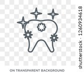 shiny tooth icon. trendy flat...   Shutterstock .eps vector #1260934618