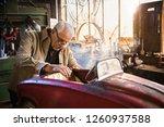 senior grey haired man in his...   Shutterstock . vector #1260937588