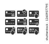 credit and debit card payment... | Shutterstock .eps vector #1260937795