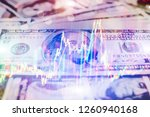 forex glowing graphs of... | Shutterstock . vector #1260940168