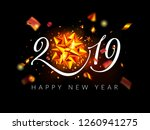 2019 happy new year background  ... | Shutterstock .eps vector #1260941275