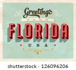 vintage touristic greeting card ... | Shutterstock .eps vector #126096206