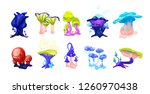 collection of colorful magical... | Shutterstock .eps vector #1260970438