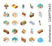 this is hotel isometric icons... | Shutterstock .eps vector #1260970642