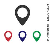 location icon vector | Shutterstock .eps vector #1260971605