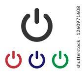 shut down icon vector | Shutterstock .eps vector #1260971608