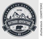 outdoor adventure vintage label ... | Shutterstock .eps vector #1260973342