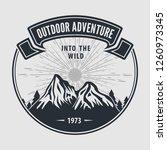 outdoor adventure vintage label ...   Shutterstock .eps vector #1260973345
