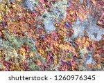 rainbow colored chalcopyrite... | Shutterstock . vector #1260976345