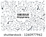 set of hand drawn arrows.... | Shutterstock .eps vector #1260977962