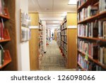 a view of an aisle in a public...   Shutterstock . vector #126098066