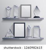 trophies shelves realistic set... | Shutterstock .eps vector #1260982615