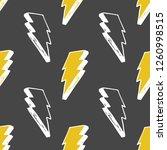 lightning seamless pattern... | Shutterstock .eps vector #1260998515