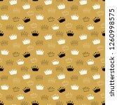 crown seamless pattern  hand... | Shutterstock .eps vector #1260998575