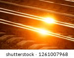 the rails turn  the rails and...   Shutterstock . vector #1261007968
