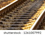 the rails turn  the rails and...   Shutterstock . vector #1261007992