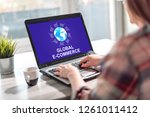 laptop screen displaying a...   Shutterstock . vector #1261011412