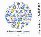 rehabilitation for disabled...   Shutterstock .eps vector #1261019482