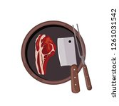 roasted beef isolated vector.... | Shutterstock .eps vector #1261031542